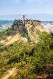 Öppna sikten av Civita di Bagnoreggio Royaltyfri Fotografi