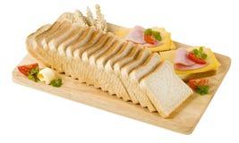 öppna smörgåsar Royaltyfri Foto
