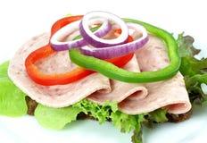 öppna smörgåsen Arkivfoto