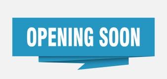 öppna snart stock illustrationer
