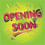 öppna snart