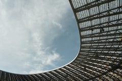 Öppna stadiontaket Arkivbild