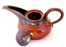 öppna teapotöverkanten arkivfoto
