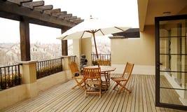 öppna terrassen Royaltyfria Bilder