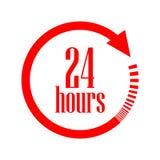 Öppna 24 timmar vektorsymbol Royaltyfri Foto