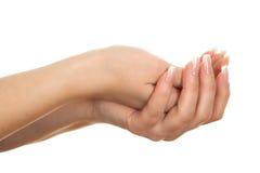 Öppna tomma händer. Royaltyfri Fotografi