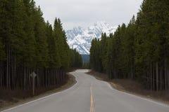 Öppna vägar i Kanada Arkivfoto