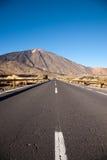 Öppna vägen på Tenerife Arkivbilder