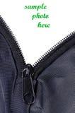 Öppna zipperen av tyg Royaltyfri Fotografi