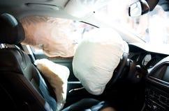 öppnad airbag Fotografering för Bildbyråer
