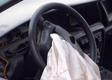 öppnad airbag Arkivbild
