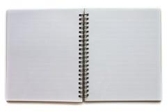 öppnad anteckningsbok arkivbild