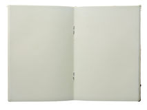 öppnad anteckningsbok arkivbilder