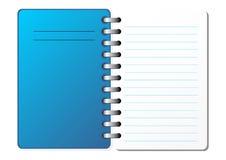 öppnad anteckningsbok stock illustrationer