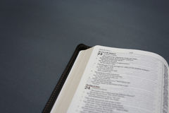 öppnad bibel Royaltyfri Foto