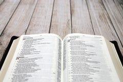 öppnad bibel Arkivbilder