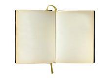 öppnad blank bok som isoleras royaltyfri fotografi