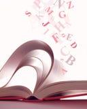 öppnad bokmagi Royaltyfri Bild