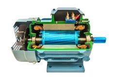 Öppnad elektrisk motor royaltyfri bild