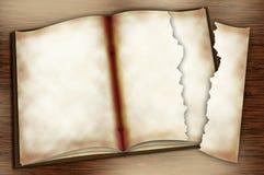 öppnad förskriftsbok arkivfoto