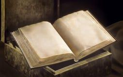 Öppnad forntida bok Royaltyfri Bild