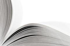 öppnad white för bakgrundsbok makro Arkivfoto