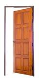 Öppnad wood dörr Royaltyfria Bilder