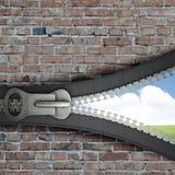 öppnad zipper Fotografering för Bildbyråer