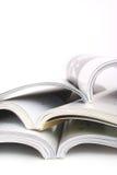 öppnade böcker Fotografering för Bildbyråer