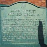 Öppnade den rekord- studion för solen vid rockbanbrytaren Sam Phillips i Memphis Tennessee USA Royaltyfri Bild