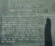 Öppnade den rekord- studion för solen vid rockbanbrytaren Sam Phillips i Memphis Tennessee USA Royaltyfri Fotografi