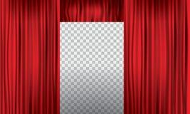 Öppnande realistisk röd gardin med den höga detaljen också vektor för coreldrawillustration vektor illustrationer