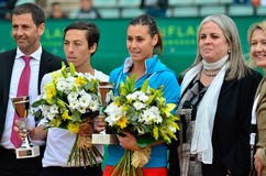 öppnar den sista damtoaletten 2012 för barcelona doubles royaltyfri bild