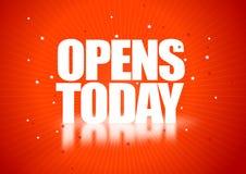 öppnar i dag stock illustrationer