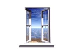 öppnat fönster Fotografering för Bildbyråer
