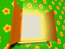öppnat fjäderfönster Fotografering för Bildbyråer