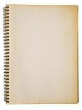 öppnat gammalt för anteckningsbok arkivbilder