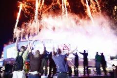 Öppning av arenan för värld o2 Royaltyfri Bild