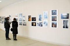 Utställning för foto för Smena värld -2012 Arkivfoto