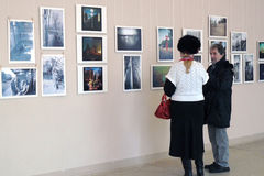 Utställning för foto för Smena värld -2012 Arkivbild
