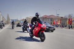 Öppning av motorcykelsäsongen Royaltyfri Bild