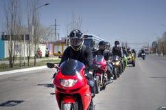 Öppning av motorcykelsäsongen Arkivfoton