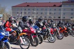 Öppning av motorcykelsäsongen Arkivfoto