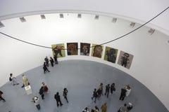Öppning av utställningen royaltyfria foton