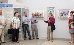 Öppning av utställningen av målningar Royaltyfri Fotografi