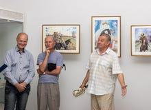 Öppning av utställningen av målningar Royaltyfri Foto