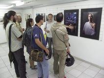 Öppning av utställningen av fotogrupp` f 5 6 `, Royaltyfri Bild