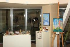Öppning av utställningen som är hängiven till berömmen av påsken Arkivbilder