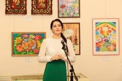 Öppning av utställningen som är hängiven till berömmen av påsken Royaltyfria Bilder