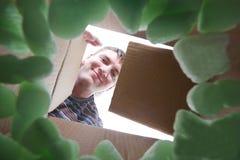 öppning för askpappman arkivfoto
